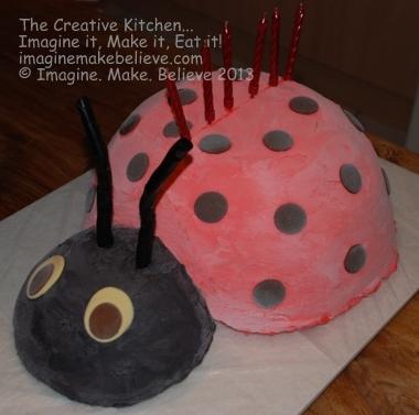 Ladybug Ice-Cream Cake