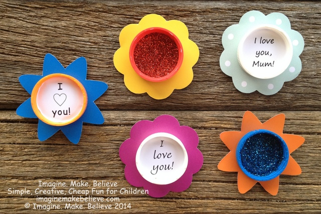 Free Fun Friday - Mother's Day Milk Lid Magnets