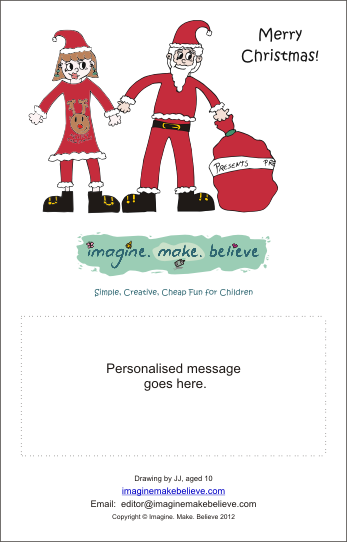 Christmas Card - Mr & Mrs Santa Claus