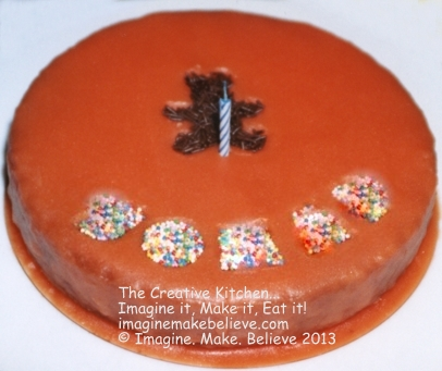 Orange Bear Cake