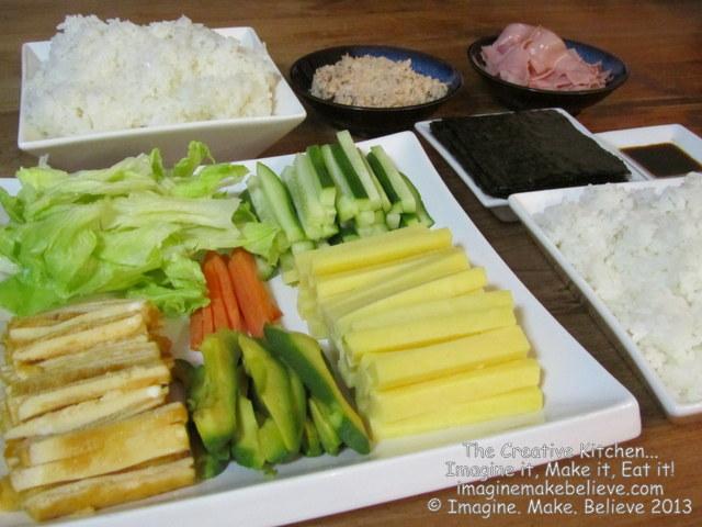 Gluten Free, dairy free, temaki sushi, Japanese, recipe