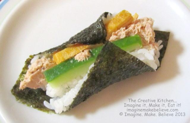 Gluten Free, dairy free, temaki sushi, Japanese, recipe, hand rolled sushi