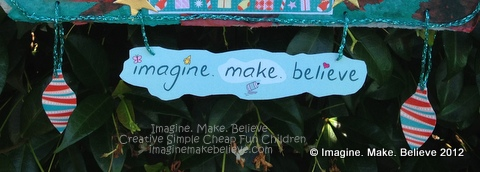 Imagine Make Believe Creative Simple Cheap Fun Children Kids Advent Calendar Free Tutorial Project Christmas Craft Egg Carton Milk Bottle Lids Recycle craft, advent calendar, free, project, tutorial, instructions, Christmas, easy, children, kids, holiday