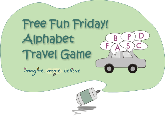 Free travel game, alphabet practice, children