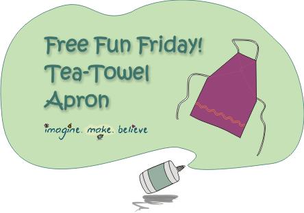 Imagine Make Believe, children, kids, sewing, quick easy apron