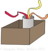 Imagine Make Believe - box, cardboard, recycle