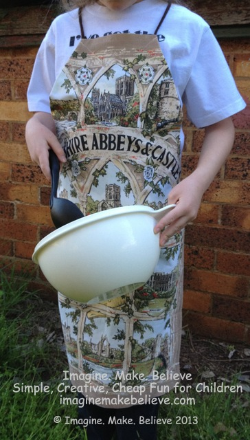 Imagine Make Believe, children, kids, sewing, quick easy apron
