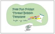 Thread bobbin template, spool, cardboard, embroidery thread, stranded cotton, floss
