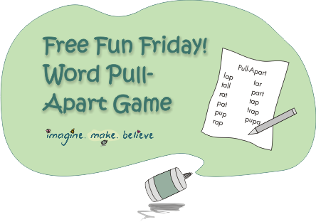 Word Pull-Apart Game, word-building, brain game, word game, pencil and paper