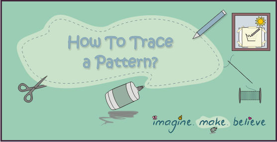 How to trace a pattern, stitching, embroidery, kids, window, lightbox
