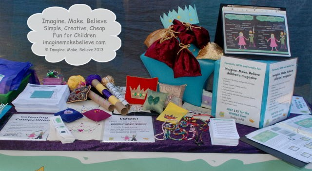 Imagine. Make. Believe Launch Stall, kid's magazine, projects