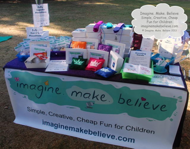 Imagine. Make. Believe Launch Stall, kid's magazine, products for sale