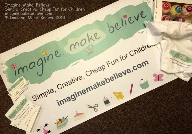 Imagine. Make. Believe Stall Banner, stationery, marketing