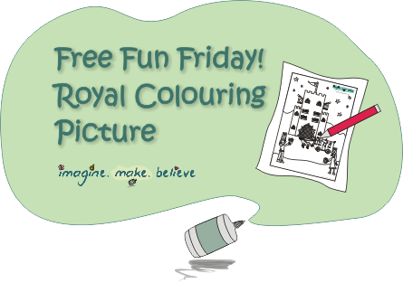 Royal Colouring Picture, children, royal magazine, colouring sheet, royal, carriage, castle, prince, princess, free