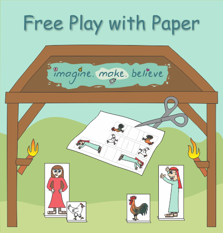 Free Play with Paper, free, printable, paper, standups, cutouts, children, play, paper