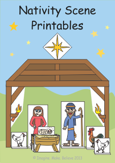 photo regarding Free Printable Nativity Scene identified as Free of charge Participate in with Paper - Nativity Scene Printables - Picture