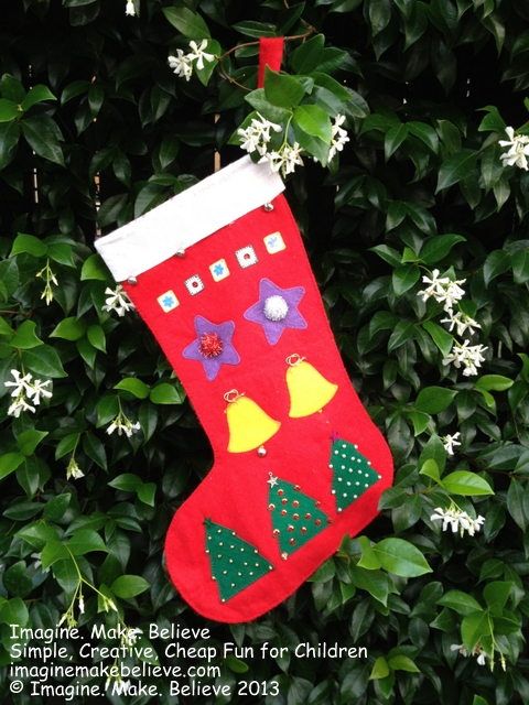Christmas Stocking Felt Shapes, felt, Christmas trees, bells, stars