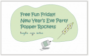 Free Fun Friday - New Year's Eve Party Popper Rockets, party poppers, new year, craft, kids, make, paper craft, recycle, cheap, confetti, paper shred, push popper, rocket, free, pattern, tutorial
