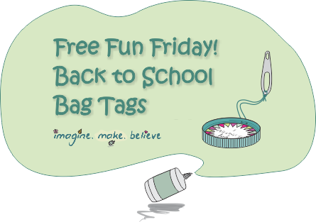 Back to School Bag Tags, bag tag, school, milk bottle lid, juice bottle lid, recycle, upcycle, children, free, tutorial, kids, back to school, printable
