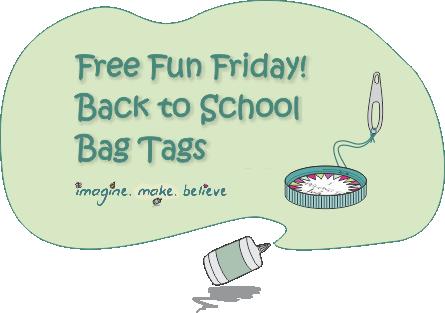 Back to School Bag Tags, bag tag, school, milk bottle lid, juice bottle lid, recycle, upcycle, children, free, tutorial, kids, back to school, printable