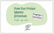 Weekly Schedule, free, printable, children, activities, days, visual cue, chart