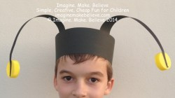 Free Fun Friday - Easy Insect Antennae Headband, insect, antennae, bug, beetle, bee, grasshopper, ladybug, party, dress up, craft, kids, make, paper craft, cheap, free, pattern, tutorial