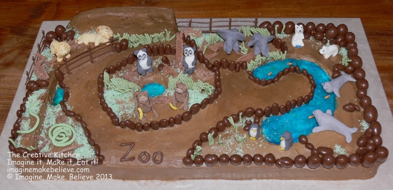 3d Slab Birthday Cake Zoo Jpg